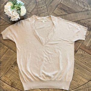 Banana Republic Short Sleeve V-Neck Sweater